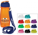 Splash 600ml Flip Top Lanyard Water Bottle