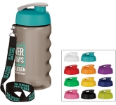 H20 Triathlon 500ml Flip Top Lanyard Promotional Water Bottle
