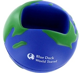 Globe Phone Holder Stress Ball  by Gopromotional - we get your brand noticed!