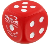 Dice Promotional Stress Toys With Dot  by Gopromotional - we get your brand noticed!