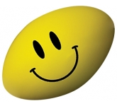 Smiley Rugby Ball Stress Toy  by Gopromotional - we get your brand noticed!