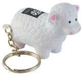 Sheep Keyring Stress Toy  by Gopromotional - we get your brand noticed!