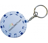 Poker Chip Keyring Stress Toy