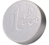 Silver Euro Coin Stress Toy