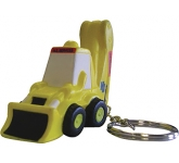 Digger Keyring Stress Toy  by Gopromotional - we get your brand noticed!