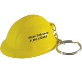 Hard Hat Keyring Stress Toy  by Gopromotional - we get your brand noticed!
