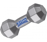 Dumbbell Stress Toy  by Gopromotional - we get your brand noticed!