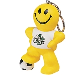 Smiley Football Man Keyring Stress Toy  by Gopromotional - we get your brand noticed!