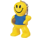 Smiley Rugby Man Keyring Stress Toy  by Gopromotional - we get your brand noticed!