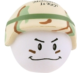 Soldier Mad Hat Stress Toy  by Gopromotional - we get your brand noticed!