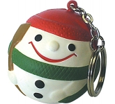 Snowman Keyring Stress Toy  by Gopromotional - we get your brand noticed!
