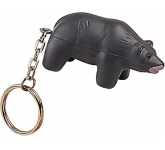 Bear Keyring Stress Toy  by Gopromotional - we get your brand noticed!