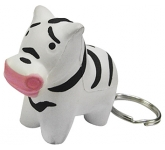 Zebra Keyring Stress Toy