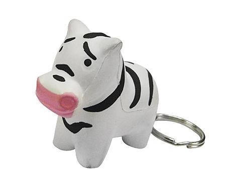 Zebra Keyring Stress Toy