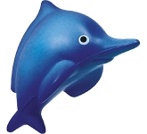 Splash Dolphin Stress Toy  by Gopromotional - we get your brand noticed!