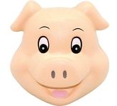 Pig Head Stress Toy  by Gopromotional - we get your brand noticed!