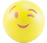 Wink Emoji Promotional Stress Ball  by Gopromotional - we get your brand noticed!