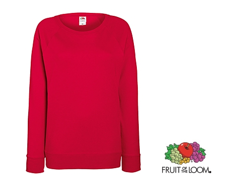 38d6c49b Promotional Fruit Of The Loom Lady-Fit Lightweight Raglan Sweatshirt  Printed with your Logo at GoPromotional Ireland