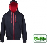 AWDis Varsity Zipped Hoody  by Gopromotional - we get your brand noticed!