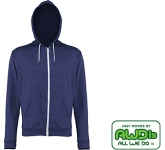AWDis Heather Zipped Hoody  by Gopromotional - we get your brand noticed!