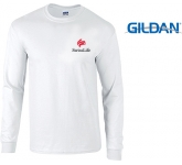 Gildan Ultra Long Sleeved T-Shirts - White  by Gopromotional - we get your brand noticed!