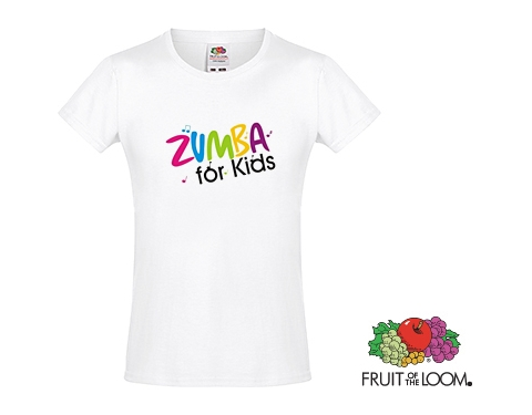 9b6a5f05c Promotional Fruit Of The Loom Sofspun Girls T-Shirts - White Printed with  your Logo at GoPromotional Ireland