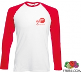 Fruit Of The Loom Long Sleeved Baseball T-Shirt  by Gopromotional - we get your brand noticed!