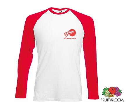 Fruit Of The Loom Long Sleeved Baseball T-Shirt