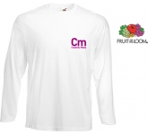 Fruit Of The Loom Long Sleeved Value Weight T-Shirts - White  by Gopromotional - we get your brand noticed!