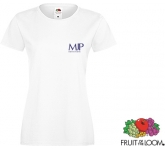Fruit Of The Loom Sofspun Women's T-Shirts - White  by Gopromotional - we get your brand noticed!