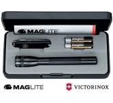 Mini Maglite AA & Victorinox Classic SD Set