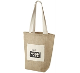 Delhi Natural Cotton Jute Tote Bag  by Gopromotional - we get your brand noticed!