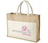 Calcutta Natural Cotton Jute Bag  by Gopromotional - we get your brand noticed!