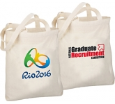 5oz Long Handled Natural Cotton Shopping Bag  by Gopromotional - we get your brand noticed!