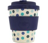 250ml eCoffee Cups - Blue Polka  by Gopromotional - we get your brand noticed!