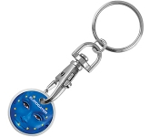 Vision ColourBrite Printed Trolley Coin Keyring