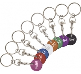 Flamboyant Printed Trolley Coin Keyring  by Gopromotional - we get your brand noticed!