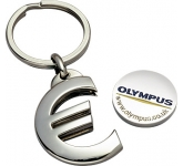Premium Euro Trolley Coin Keyring  by Gopromotional - we get your brand noticed!