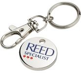 Trolley Coin Keyring  by Gopromotional - we get your brand noticed!