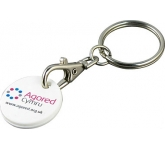 Recycled Promotional Trolley Coin Keyring