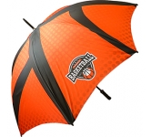 Bedford Black Printed Golf Umbrella