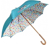 Spectrum Urban Wood Printed Double Canopy Umbrella
