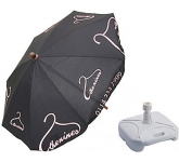 Classic Round Wooden Parasol  by Gopromotional - we get your brand noticed!