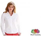 Fruit Of The Loom Women's Fit Long Sleeved Oxford Shirt