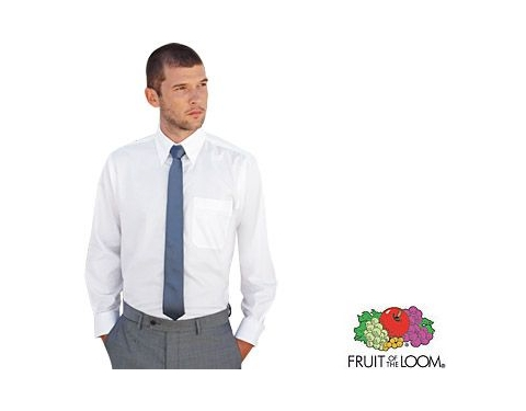 Fruit Of The Loom Men's Long Sleeved Oxford Shirt