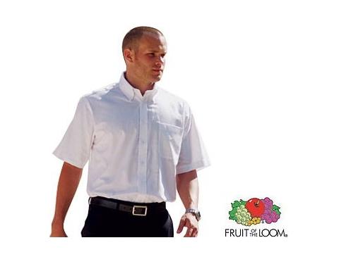 Fruit Of The Loom Men's Short Sleeved Oxford Shirt