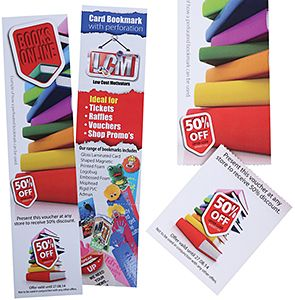 Coupon Perforated Bookmarks