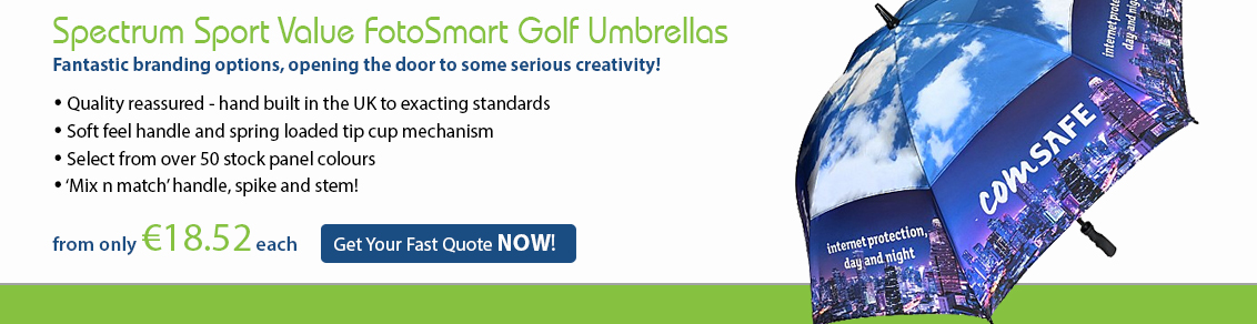 Spectrum Sport Value FotoSmart Golf Umbrellas
