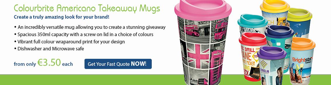 Colourbrite Americano Takeaway Mugs