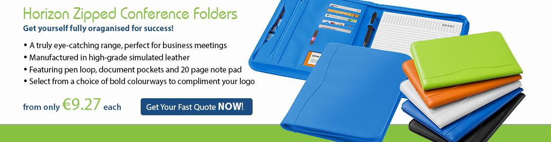 Horizon Zipped Conference Folder